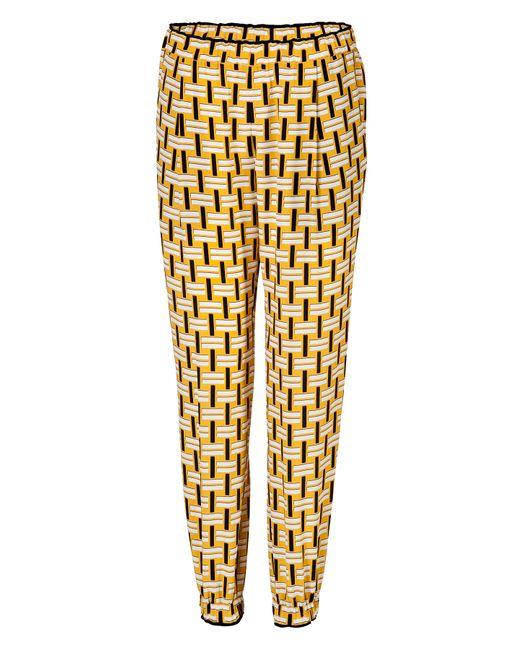 Fendi | Женское Желтый Silk Printed Pants Gr. It 38
