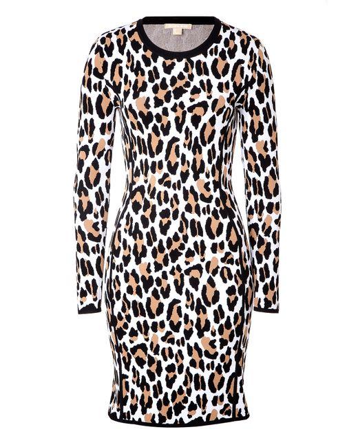 Michael Kors | Женское Animal Prints Animal Print Intarsia Knit Dress Gr. S