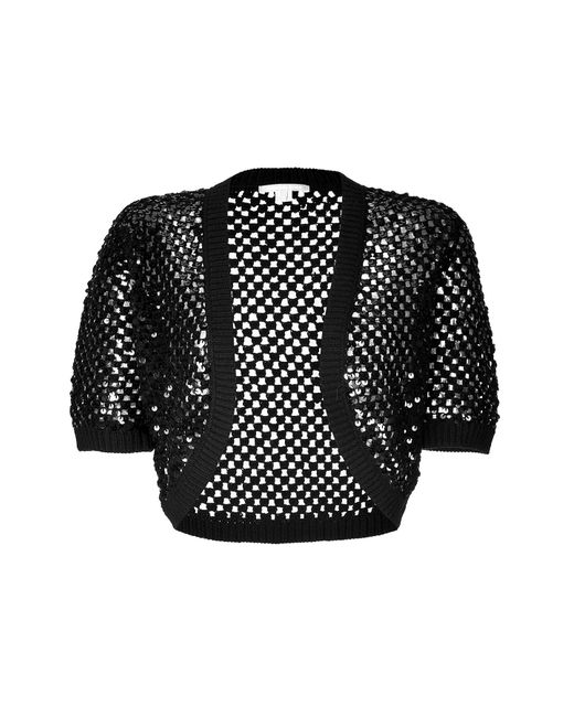 Michael Kors | Женское Cashmere Open Knit Bolero With Sequin Embellishment