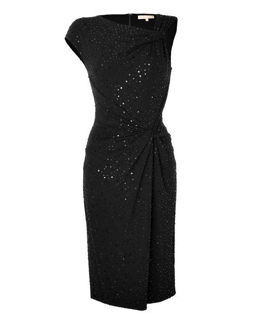 Michael Kors | Женское Чёрный Sequin Embellished One Sleeve Dress Gr. 40