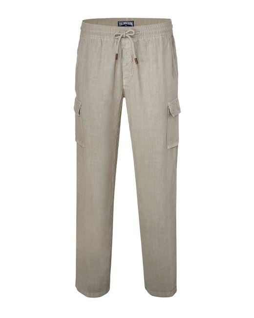 Vilebrequin | Мужское Серый Linen Ponant Pants Gr. M