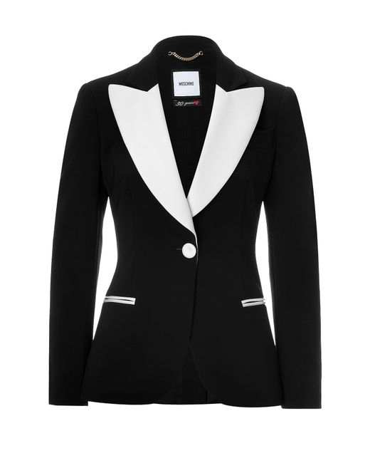Moschino | Женское Чёрный Two-Tone Tuxedo Blazer Gr. It 40