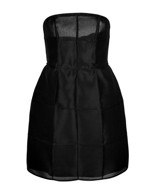 Fendi | Женское Чёрный Silk Organza Strapless Dress Gr. 36