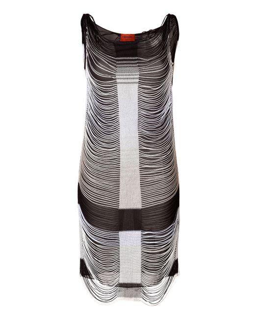 Missoni | Женское Чёрный Draped Fringe Dress Gr. 40