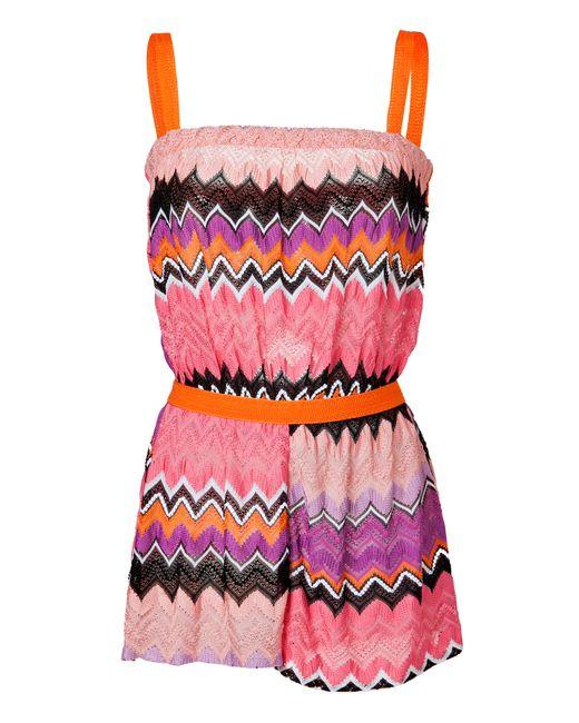 Missoni Mare | Женское Розовый Zigzag Knit Romper Gr. 34