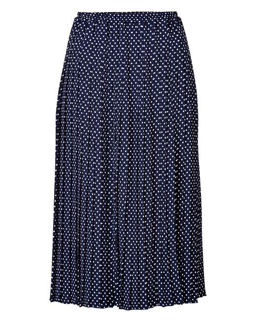 Michael Kors   Женское Синий Dot Print Pleated Midi-Skirt Gr. 40