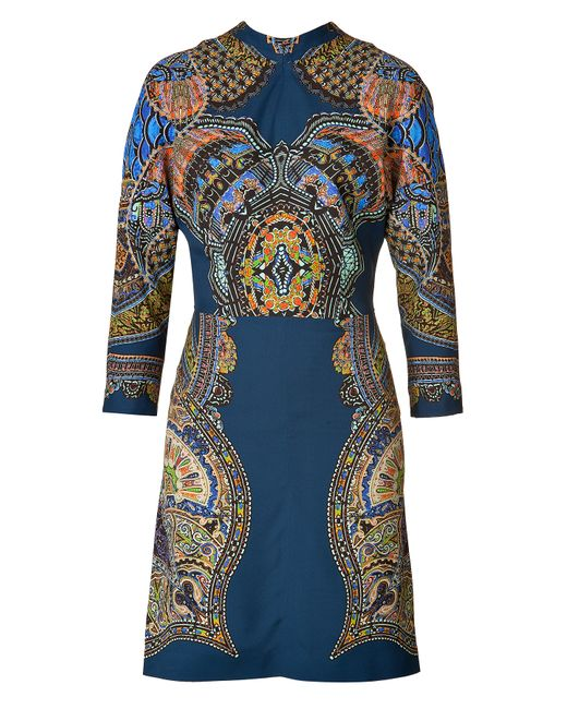 Etro | Женское Stand-Up Collar Printed Sheath Dress Gr. 34