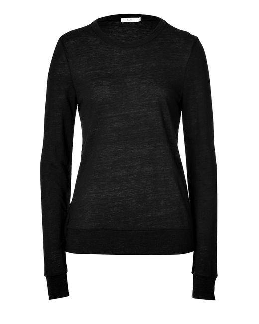 A.L.C. | Женское Чёрный Linen-Jersey T-Shirt Gr. M