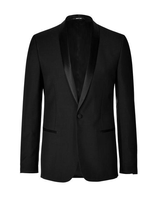Maison Margiela | Мужское Чёрный Wool-Mohair Tuxedo Blazer Gr. 48