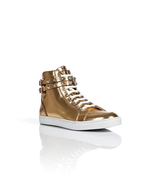 Dsquared2 | Женское Золотой Metallic Leather Sneakers Gr. 36