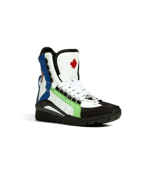 Dsquared2 | Мужское Многоцветный Suede/Leather High-Top Sneakers Gr. 40