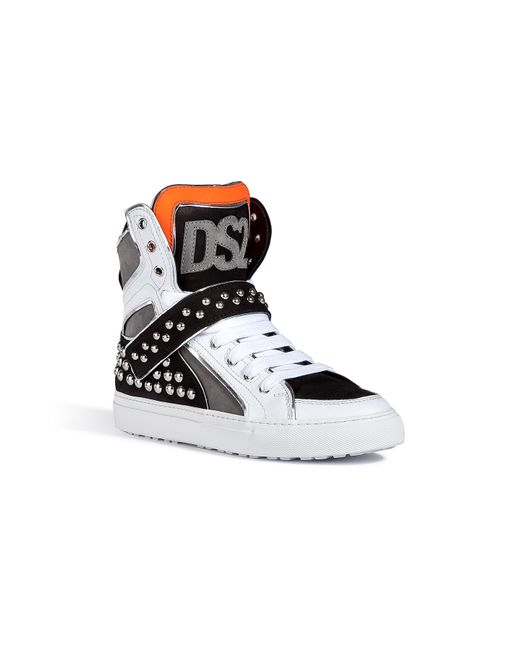 Dsquared2 | Мужское Многоцветный Leather/Suede Studded Sneakers Gr. 40