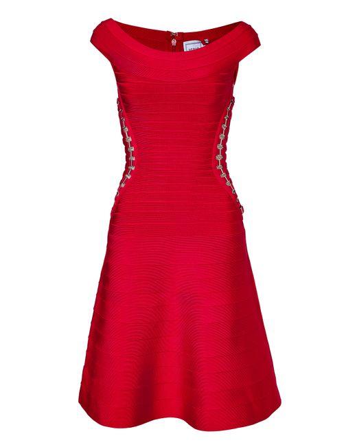 Hervé Léger | Женское Красный Bandage Dress With Embellished Cutouts Gr. S