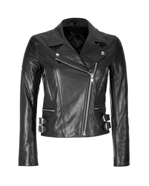 Victoria Beckham Denim | Женское Чёрный Leather Biker Jacket Gr. 8