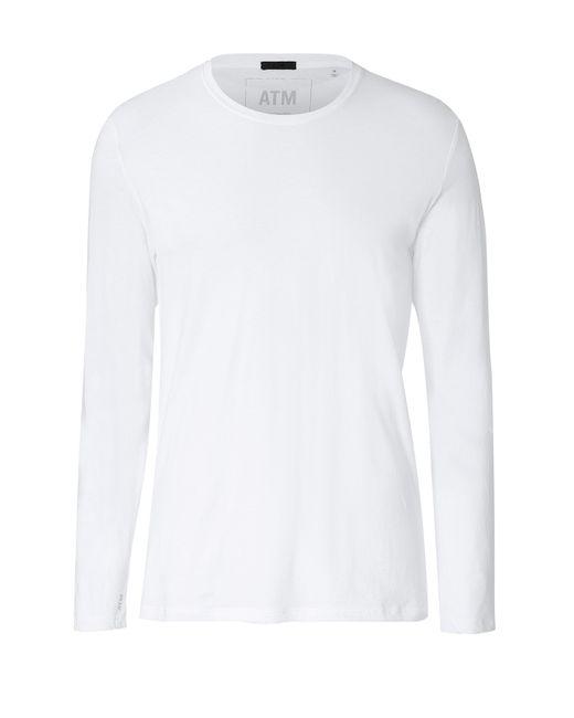 ATM   Мужское Белый Long Sleeve Cotton T-Shirt Gr. M