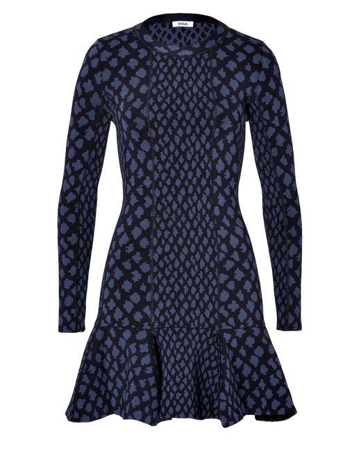 ISSA | Женское Синий Printed Viscose Aubrey Dress Gr. S