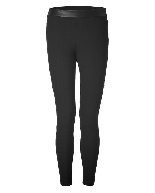 Rag & Bone | Чёрный Leggings With Leather Waist Gr. 40