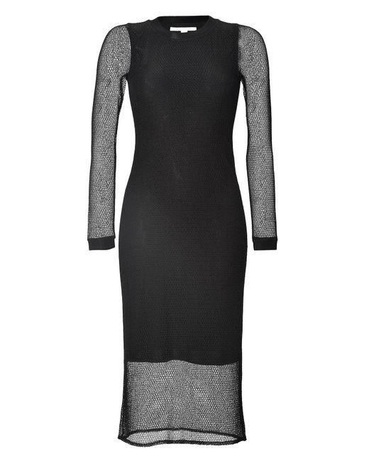 Jonathan Simkhai | Женское Чёрный Long Sleeve Mesh Midi-Dress Gr. M