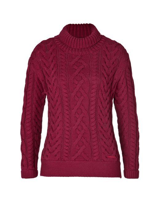 Burberry Brit | Женское Красный Cotton Blend Cable Knit Pullover Gr. S