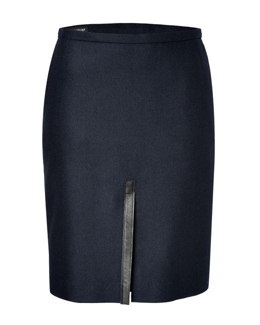 Clemens en August | Женское Синий Wool-Cashmere Blend Pencil Skirt Gr. 34