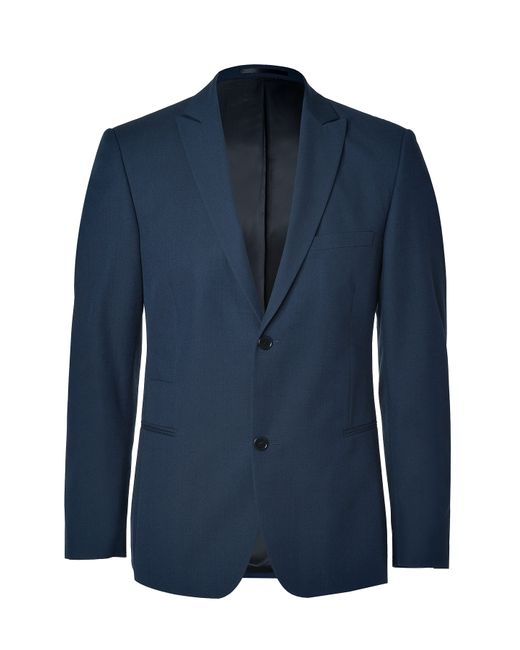 Clemens en August   Мужское Синий Slim Wool-Cotton Blazer Gr. 46