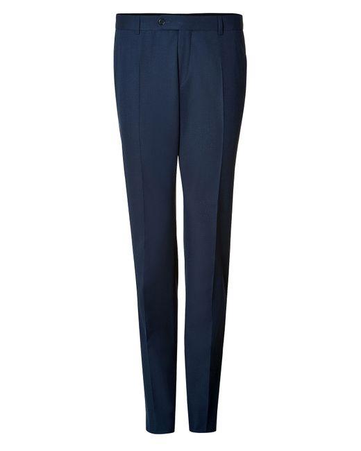 Clemens en August   Мужское Синий Wool-Cotton Trousers Gr. 46