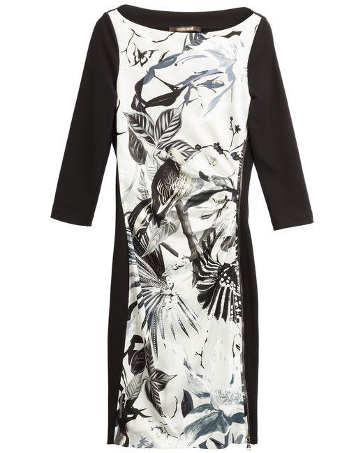 Roberto Cavalli | Женское Многоцветный Printed Stretch Silk Dress Gr. 36