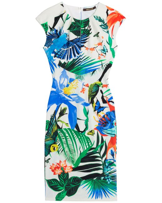 Roberto Cavalli | Женское Многоцветный Printed Stretch Dress Gr. 40