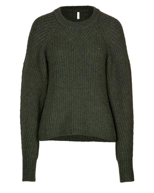 Faith Connexion | Женское Зелёный Alpaca-Wool Blend Ribbed Pullover In Khaki Gr.