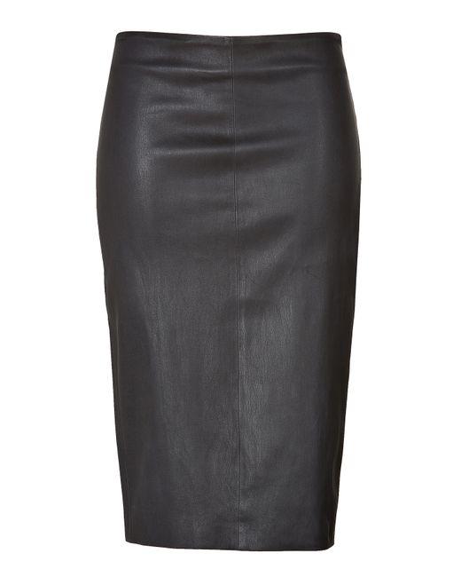 Brunello Cucinelli   Женское Чёрный Leather Pencil Skirt Gr. S