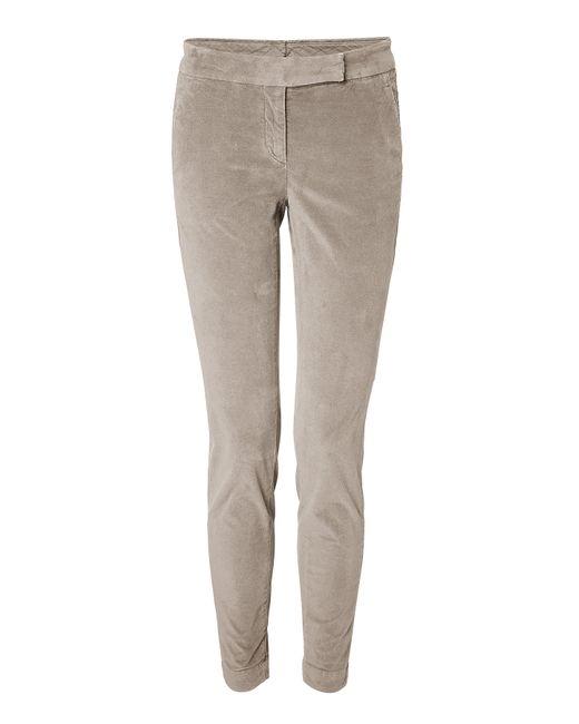 Brunello Cucinelli | Женское Camel Skinny Velvet Pants Gr. 40