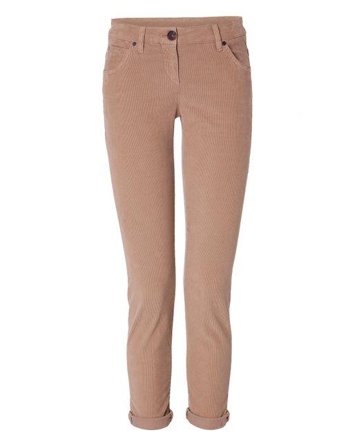 Brunello Cucinelli | Женское Бежевый Stretch Cotton Corduroys Gr. 40