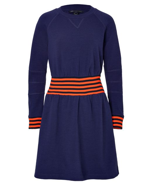 Marc by Marc Jacobs | Женское Синий Wool-Blend Sweatshirt Dress Gr. S