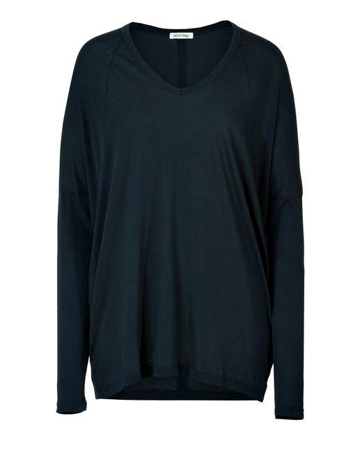 American Vintage   Женское Синий Knit Cotton Long Sleeve Shirt Gr. M/L