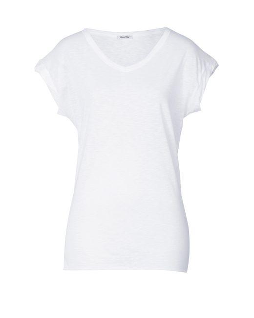 American Vintage   Женское Белый Cotton Dolman Sleeve T-Shirt Gr. M/L