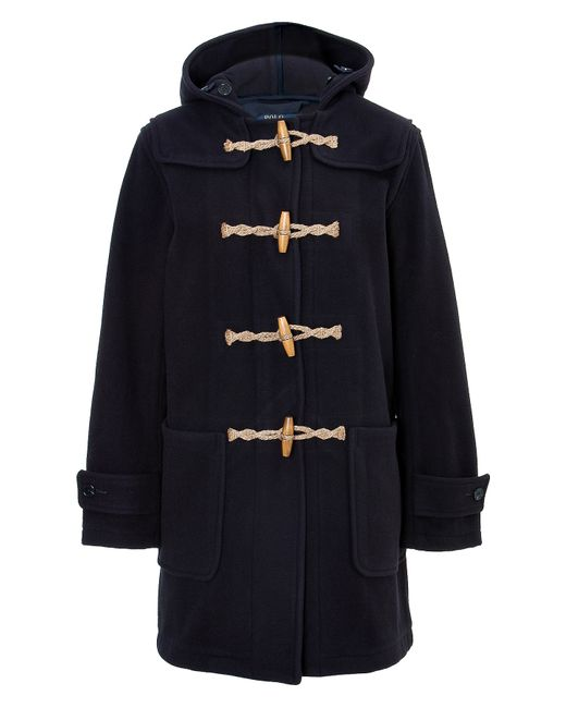 Polo Ralph Lauren   Синий Wool Blend Duffle Coat Gr. S
