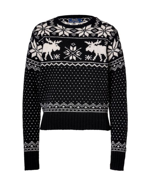 Polo Ralph Lauren   Женское Чёрный Merino-Alpaca Ski Sweater Gr. M