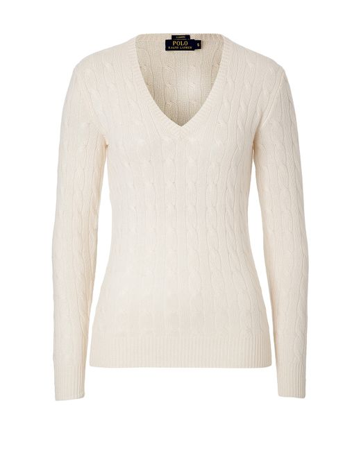 Polo Ralph Lauren | Женское Белый Cashmere Cable Knit Pullover Gr. S
