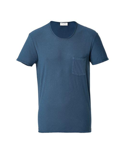 American Vintage | Мужское Синий Cotton Short Sleeve T-Shirt Gr. M