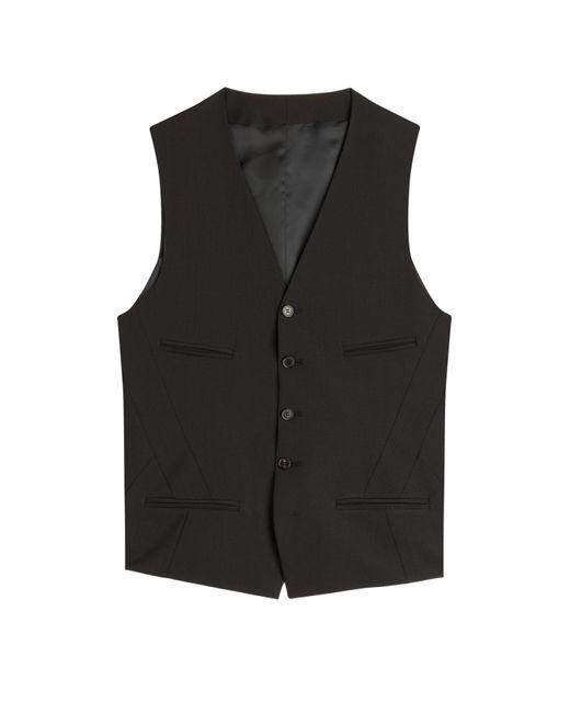 Neil Barrett | Stripes Pinstriped Wool Blend Vest Gr. 46