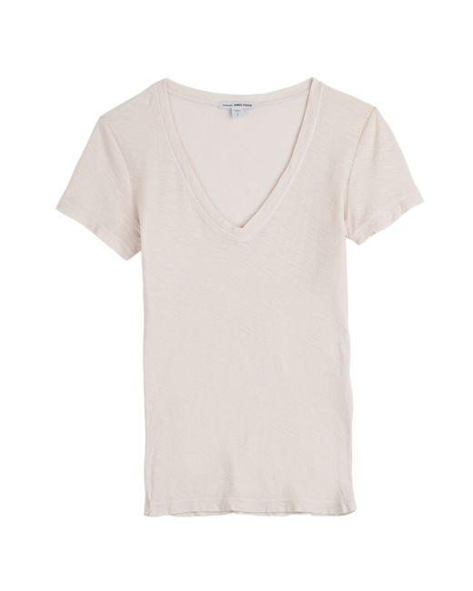 James Perse | Женское Rose Cotton T-Shirt Gr. L
