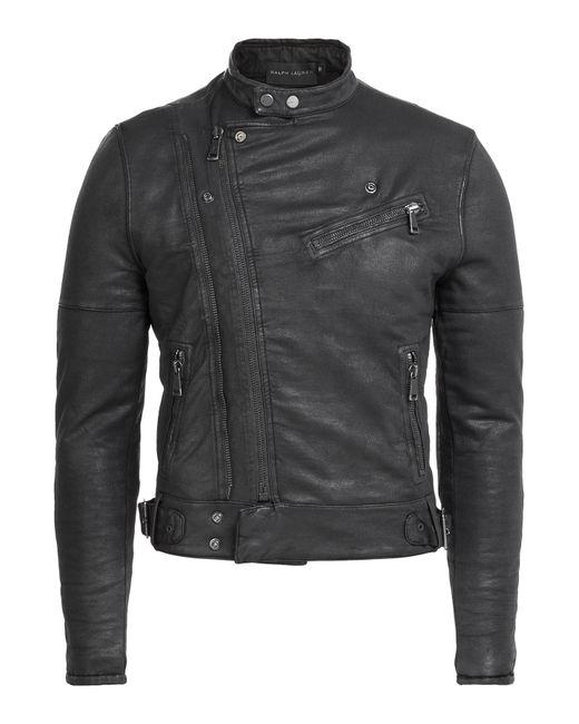 Ralph Lauren Black Label | Мужское Чёрный Cotton Biker Jacket Gr. M