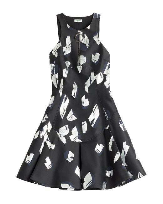 Kenzo | Женское Синий Metallic Curls Jacquard Dress Gr. 34