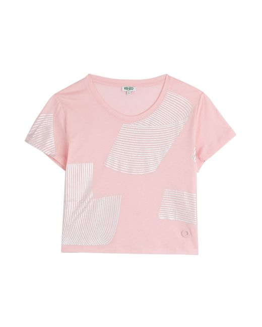 Kenzo | Женское Rose Printed Cotton Cropped T-Shirt Gr. S