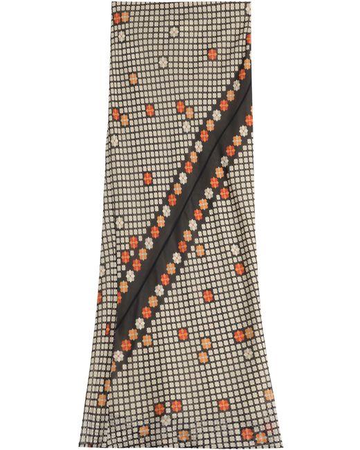 Maison Margiela   Женское Цветочный Printed Silk Georgette Maxi Skirt Gr. 34