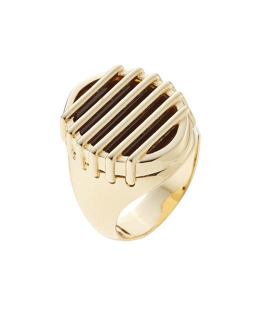 Maison Margiela | Золотой Brass Stone Ring Gold Gr. M
