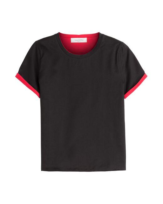 Valentino | Женское Чёрный Double Face Cotton T-Shirt Gr. S