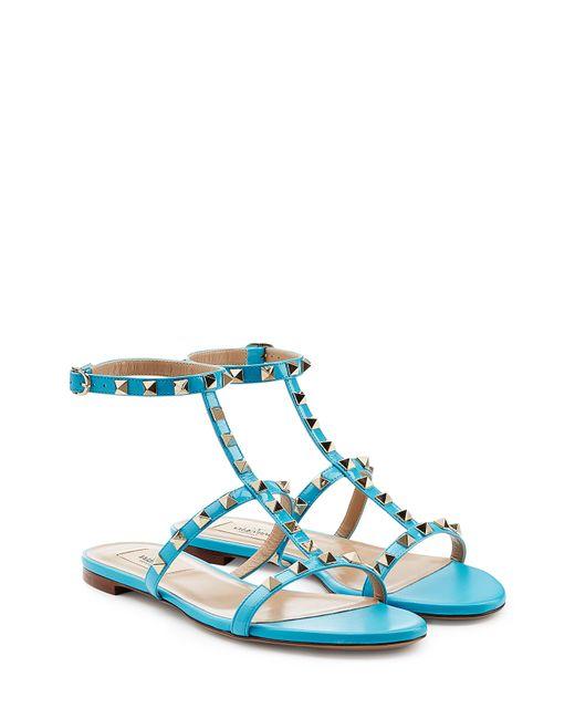 Valentino   Женское Синий Rockstud Sandals Gr. 36