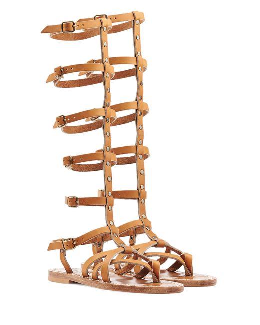 K. Jacques | Женское Camel Appiap Leather Sandals Gr. 36