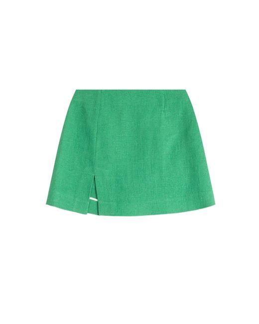 Isa Arfen | Женское Зелёный Linen Mini Skirt Gr. 34